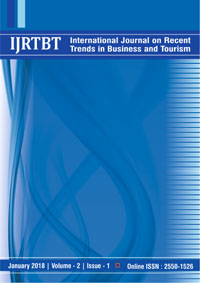 View Vol. 2 No. 1 (2018): International Journal on Recent Trends in Business and Tourism