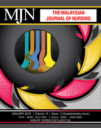 View Vol. 9 No. 3 (2018): The Malaysian Journal of Nursing (Supplementary)