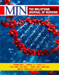 View Vol. 9 No. 2 (2017): The Malaysian Journal of Nursing