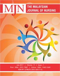 View Vol. 9 No. 1 (2017): The Malaysian Journal of Nursing