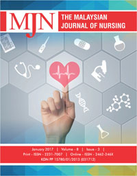 View Vol. 8 No. 3 (2017): The Malaysian Journal of Nursing
