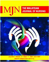 View Vol. 6 No. 1 (2014): The Malaysian Journal of Nursing