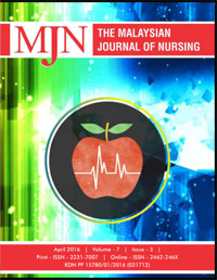 View Vol. 7 No. 3 (2016): The Malaysian Journal of Nursing