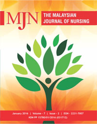 View Vol. 7 No. 2 (2016): The Malaysian Journal of Nursing