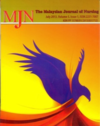 View Vol. 5 No. 1 (2013): The Malaysian Journal of Nursing