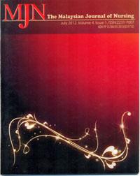 View Vol. 4 No. 1 (2012): The Malaysian Journal of Nursing