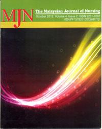 View Vol. 4 No. 2 (2012): The Malaysian Journal of Nursing