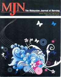 View Vol. 2 No. 4 (2011): The Malaysian Journal of Nursing