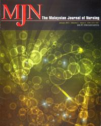 View Vol. 2 No. 3 (2011): The Malaysian Journal of Nursing