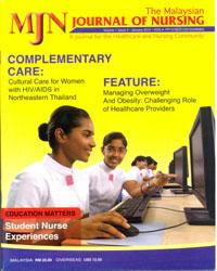 View Vol. 1 No. 3 (2010): The Malaysian Journal of Nursing
