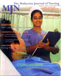 View Vol. 1 No. 1 (2009): The Malaysian Journal of Nursing