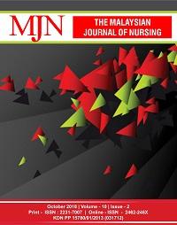 View Vol. 10 No. 2 (2018): The Malaysian Journal of Nursing