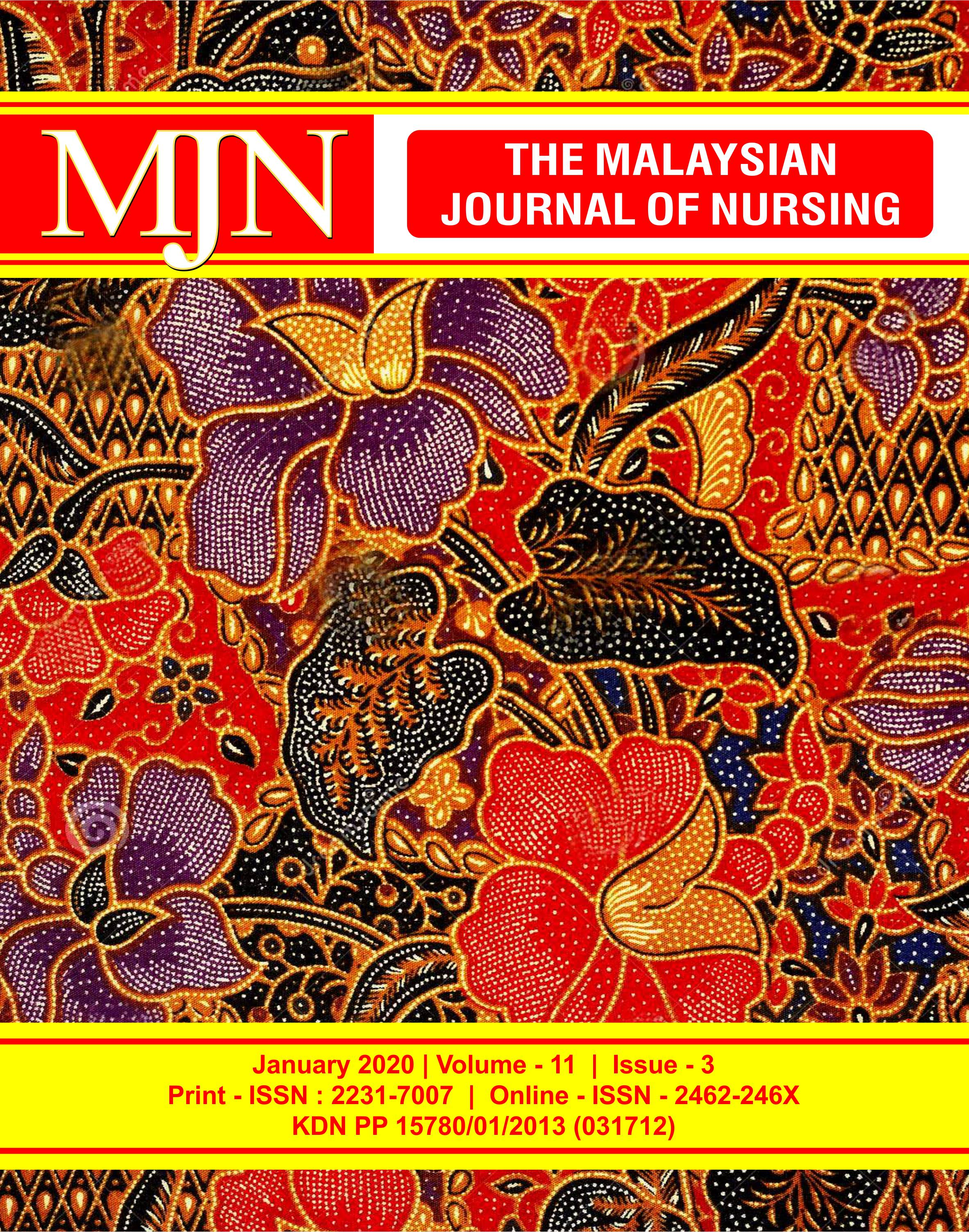View Vol. 11 No. 3 (2020): The Malaysian Journal of Nursing