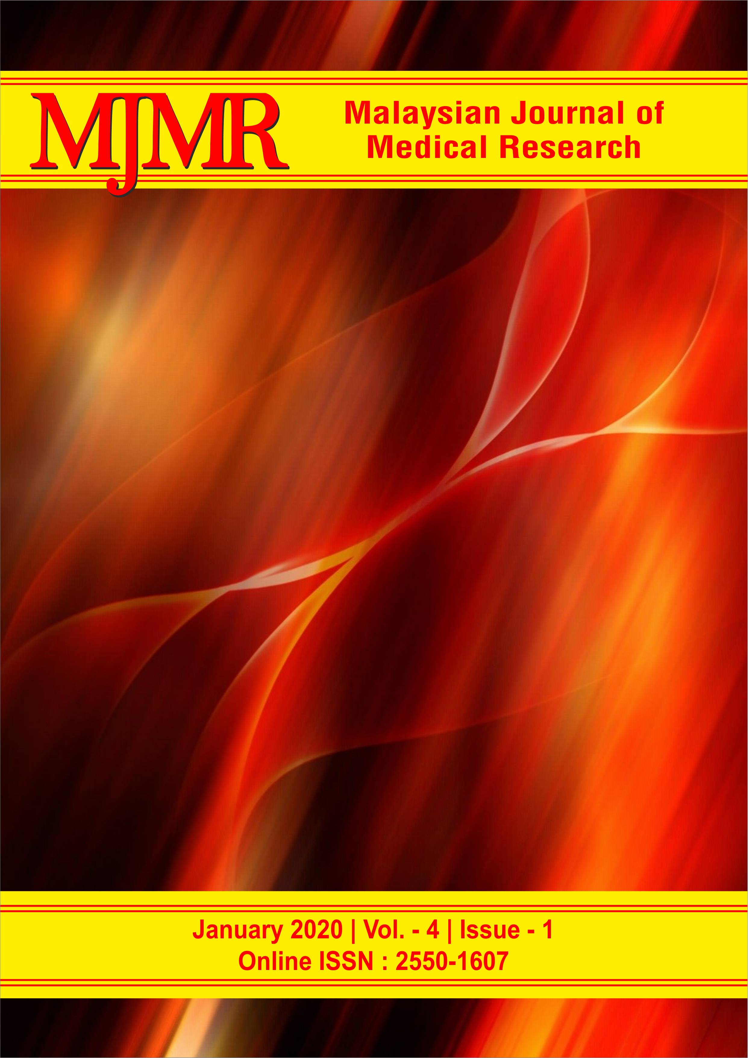 View Vol. 4 No. 1 (2020): Malaysian Journal of Medical Research