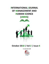 View Vol. 2 No. 4 (2018): International Journal Of Management And Human Science (IJMHS)
