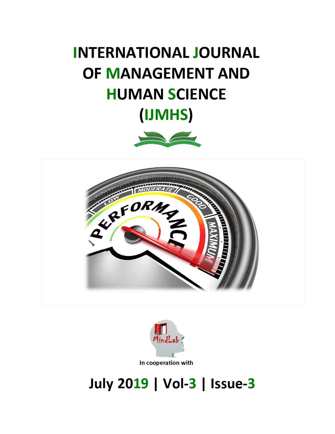 View Vol. 3 No. 3 (2019): International Journal of Management and Human Science (IJMHS)