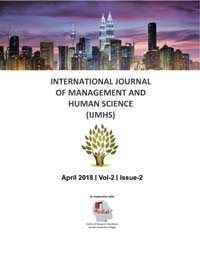View Vol. 2 No. 2 (2018): International Journal Of Management And Human Science (IJMHS)
