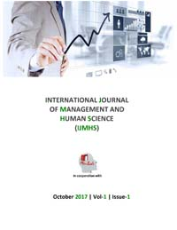 View Vol. 1 No. 1 (2017): International Journal Of Management And Human Science (IJMHS)